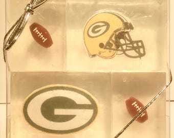 Green Bay Packers soaps for adult/kid party favors, stocking stuffers or holiday gifts
