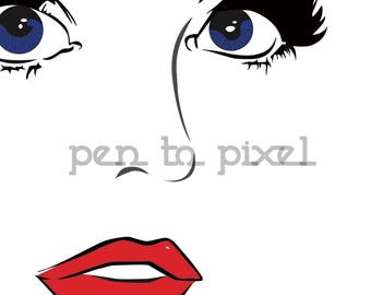 Pop Art Girl Print