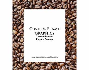 Coffee Bean Photo Frame 8x10
