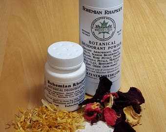 Botanical Deodorant Powder with Natural Clays