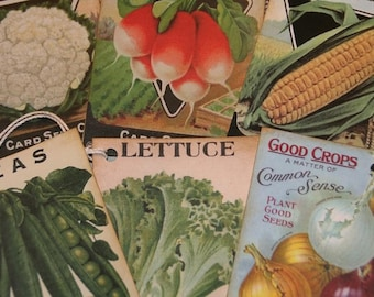 Vegetables Seed Packets Gift Tags