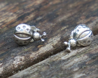 Ladybird Stud Earrings, Ladybird Studs, Ladybird Earrings, Silver Earrings, Ladybird Jewelry, Tiny Ladybird Studs, Silver Stud Earrings