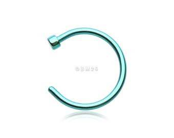 Colorline Basic Nose Hoop Ring - Green