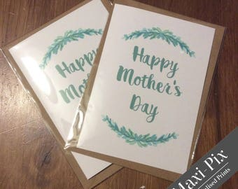 "Mother's Day Card, fFloral , Quote Card, Folded Card & Envelope, 8x6"" 7x5"" 6x4"" various sizes"