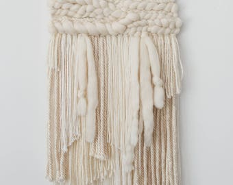 Ivory & White weaving with roving wool