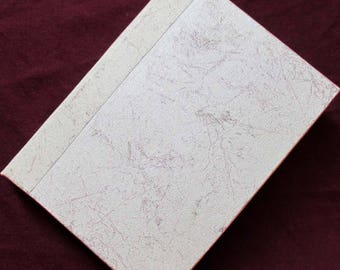 Handmade Refillable Journal pearl White Frost 7x5 Original travellers notebook hardcover fauxdori