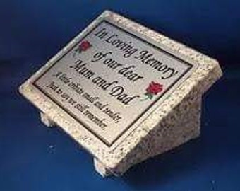 Personalised grave marker,grave stone,personalised grave marker,granite marker, Grey Granite memorial grave plaque,grave marker,grave plaque