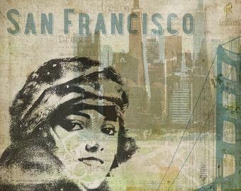 San Francisco - Wall Art 8 X 8 inches - Printable - Download, print and cut