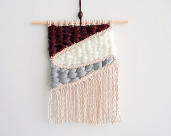 Small Woven Macrame Wall Hanging - Tapestry