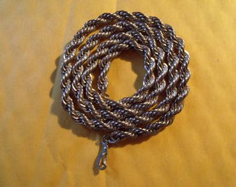 14kt gold plated twisted rope necklace chain   =