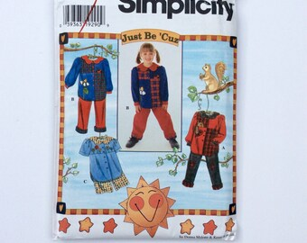 Simplicity 7277, Child's Pant and Shorts Set Pattern, Girls' Pants, Shorts, and Shirt Pattern, Size BB 4, 5, 6, 7, 8