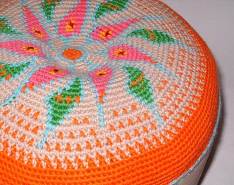 Yoga cushion meditation floor- cushion pouf