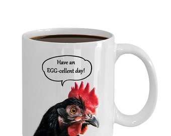Funny Chicken Coffee Mug for Women or Men Who Love Poultry