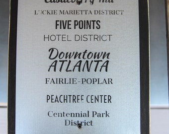 Downtown Atlanta Neighborhoods Wall Art
