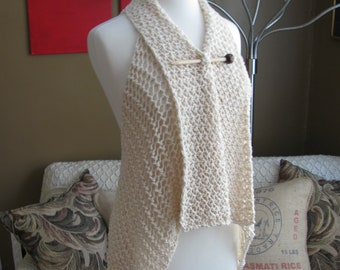 Lace Lapel Vest pattern--PDF