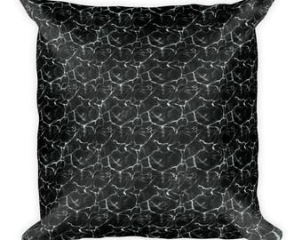 Midnight at Sea Square Pillow