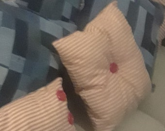 Denim patchwork pillows