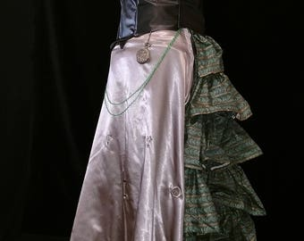 Beautiful Steam Punk inspired Bustle Skirt with Vest