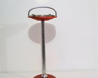 Vintage Metal Floor Stand Ashtray 1950's