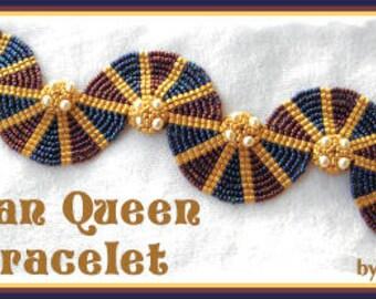 Beading Tutorial - Egyptian Queen bracelet - ladder stitch
