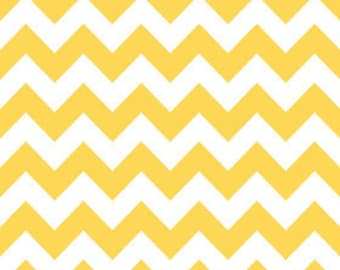 Yellow Medium Chevron from Riley Blake