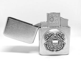 Coast Guard Pocket Lighter – Metallic