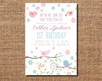 Bird invitation Etsy