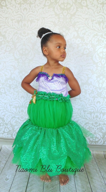 Disney Inspired The Little Mermaid Ariel Tutu Dress Costume.