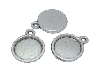 12mm Bezel Setting (antiqued) (package of 10)