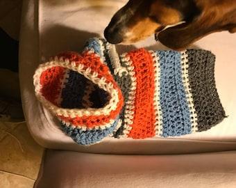 Large, Custom Crochet Dog Sweater, Crochet Dog Clothes, Dog Sweater, Custom Sweater, Choose your own color dog sweater, Crochet Dog Clothing