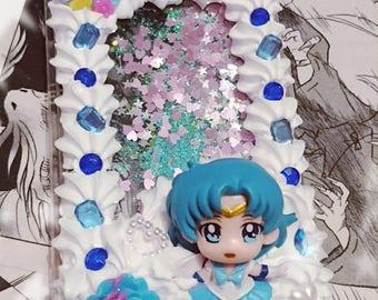 Sailor Mercury Glitter cellphone case