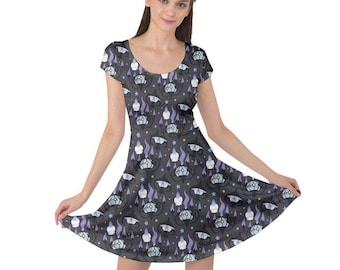 Chandelure Dress - Short Sleeve Dress Litwick Dress Lampent Dress Chandelure Evolutions Dress Pokemon Dress Comicon Dress Plus Size Dress