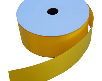 """Daffodil Yellow Roll of Ribbon - 2"""" Wide x 50 Yards, Support Our Troops, Soldier Welcome Home Ceremony"""