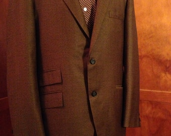 Beautiful Dark Brown Virgin Wool Dress Coat by Austin Leeds/Harris and Frank