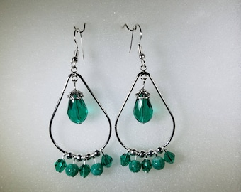 Handmade Teardrop Chandelier Earrings