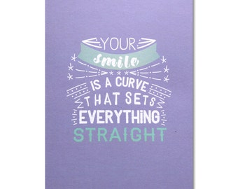 Romantic Card - Curve Smile