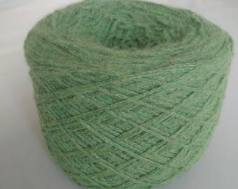 Reclaimed Wool Angora Blend moss green Yarn