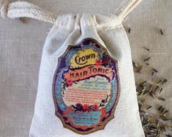 LAVENDER SACHET, PARIS Cologne Label Lavender Sachet, Aromatherapy Lavender Drawer Sachet, Sleep Calm Aromatic Lavender, Spa Gift for Her