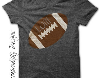 Iron on Football Shirt - Sports Iron on Transfer / Football Mom Shirt / Kids Sports Party Tee / Football Dad Outfit / Baby Shower Gift IT76