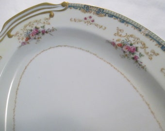 Vintage Fuji China 16 inch Oval Serving Platter with Imperfection