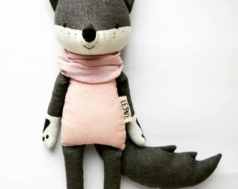 SLEVA the wolf. made to order. woodland animals.