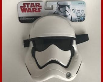OPLE Props First Order Stormtrooper child mask with mounted lense star wars cosplay childs Kids kid Trooper