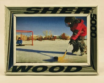 4 x 6 Hockey Stick Frame - FREE SHIPPING in US  (#3708)