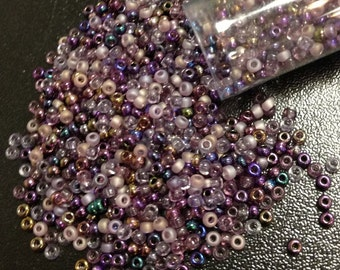 Lilac Mix Czech Seed Bead 11/o 11/O 11-mix01