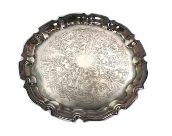 Fantastic Round silver tray   Etsy JB94