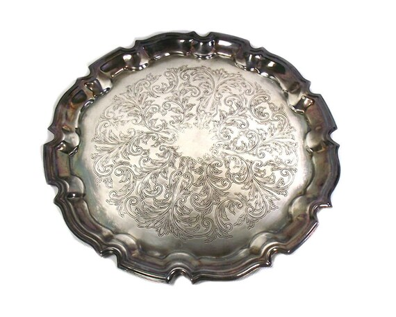 Round Silver Plated Tray by Cavalier, England