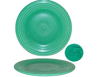 Vintage Homer Laughlin Light Green Fiesta Dinner Plate