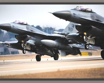 Poster, Many Sizes Available; 35Th Fighter Squadron F 16C Fighting Falcons
