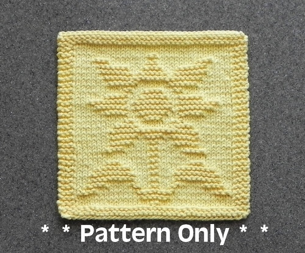 SUNFLOWER Dishcloth Pattern PDF Instant Download Knit Wash