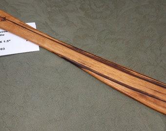 Tigerwood Goncalo Alves Miss Rose Paddles Exotic Hardwood Spatula Ruler Discipline Stick TG093